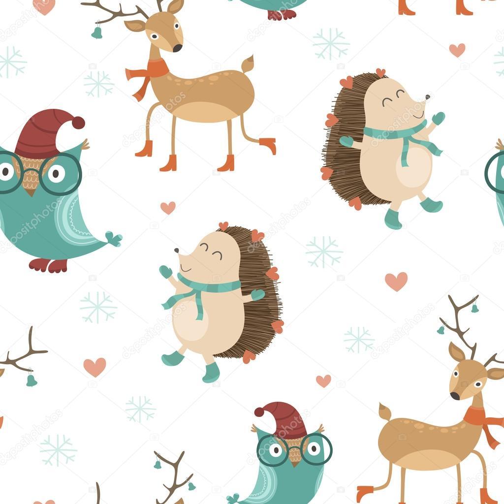 patrón sin costuras de Navidad — Vector de stock © vareennik #125308206