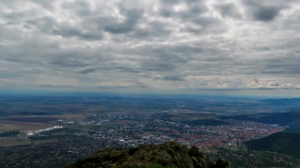 Sliven, top view. Panorama. Bulgaria. Time Lapse. 2K