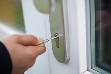 Unlocking doors.