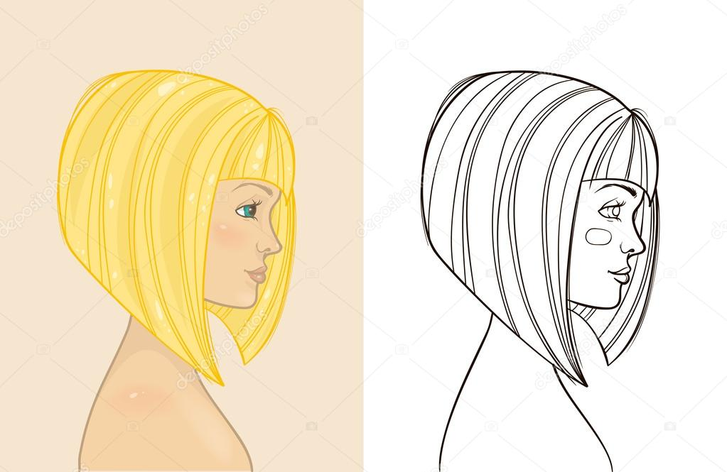 Pictures Swing Bob Hairstyle Young Beautiful Blonde Girl