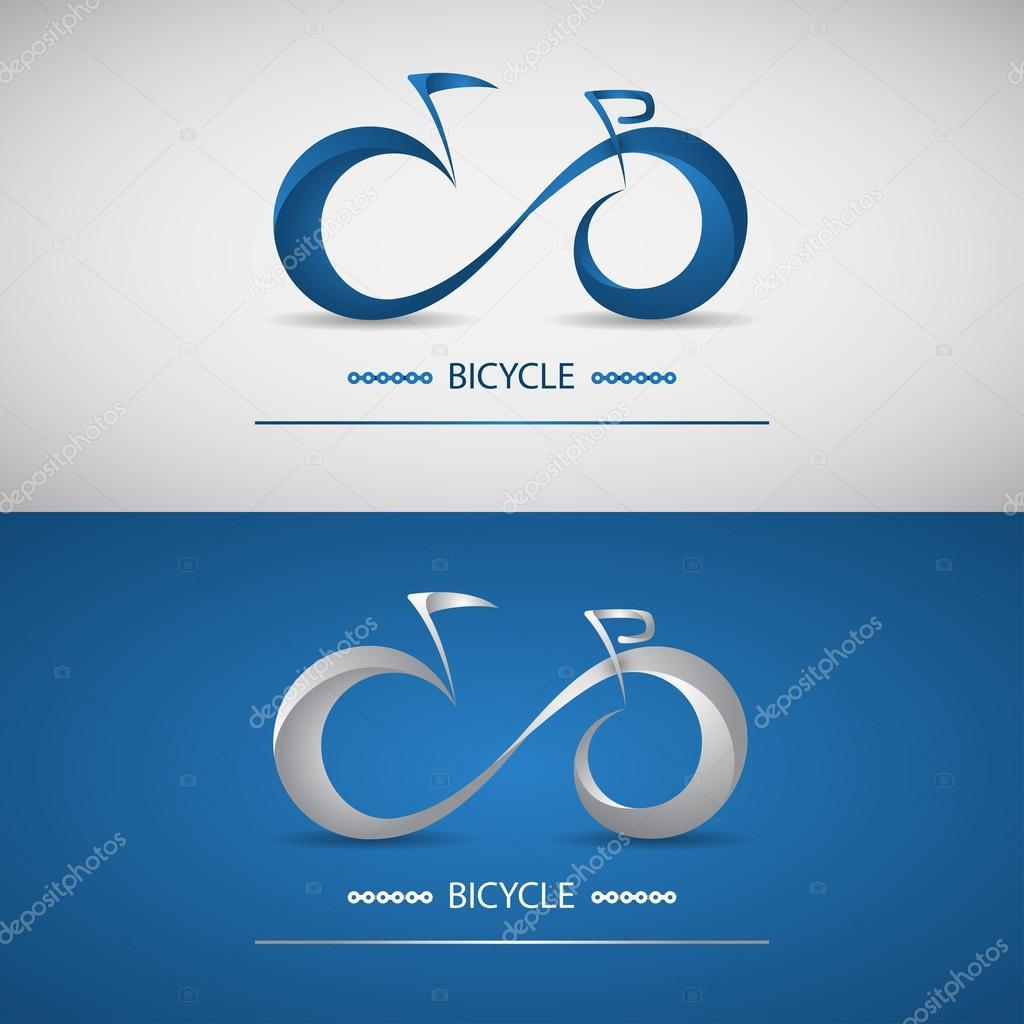 Vettore Logo Stilizzati Logo Stilizzato Bici Stile Moderno