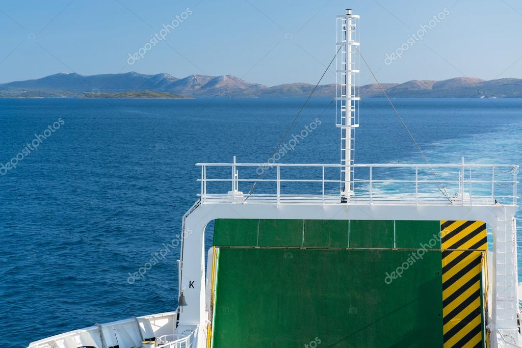 on ferry boat, Croatia.