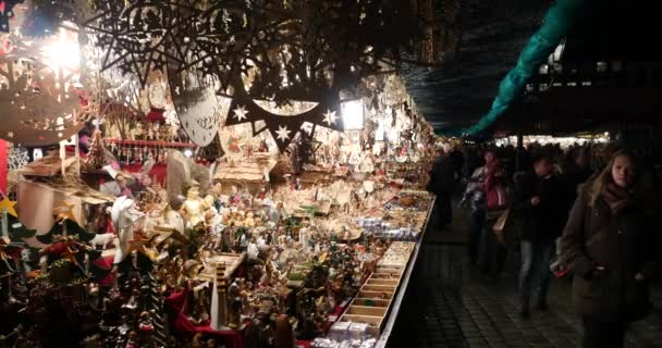 NUREMBERG, GERMANY - NOV 27, 2015: Christmas Market on 27. November. 2015 in Nuremberg, Bavaria, Germany. It is one of the large christmas market in Germany. Opening, first day of work.