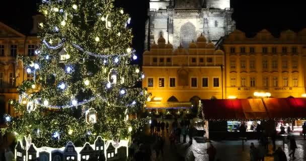 PRAGUE, 29 NOVEMBER 2015 - Old Town Square at Christmas time, Prague, Czech Republic.