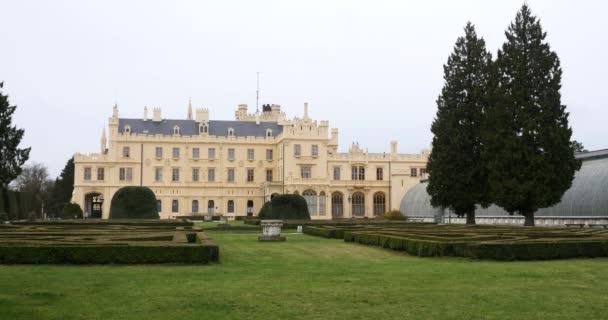 View of Lednice Castle in Czech Republic