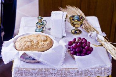 Symbols of religion : bread and wine