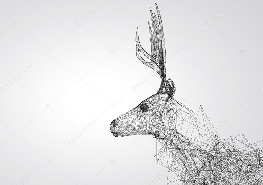 Line Drawing Deer : Deer eyes drawing at getdrawings free for personal use