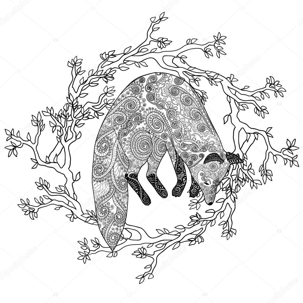 Adult coloring page for antistress art therapy. — Stock ...