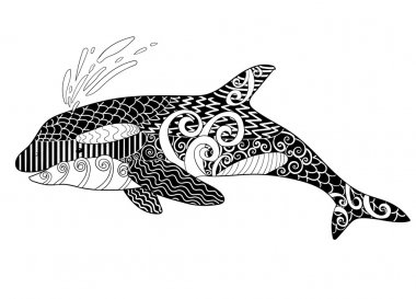 Killer whale with high details.