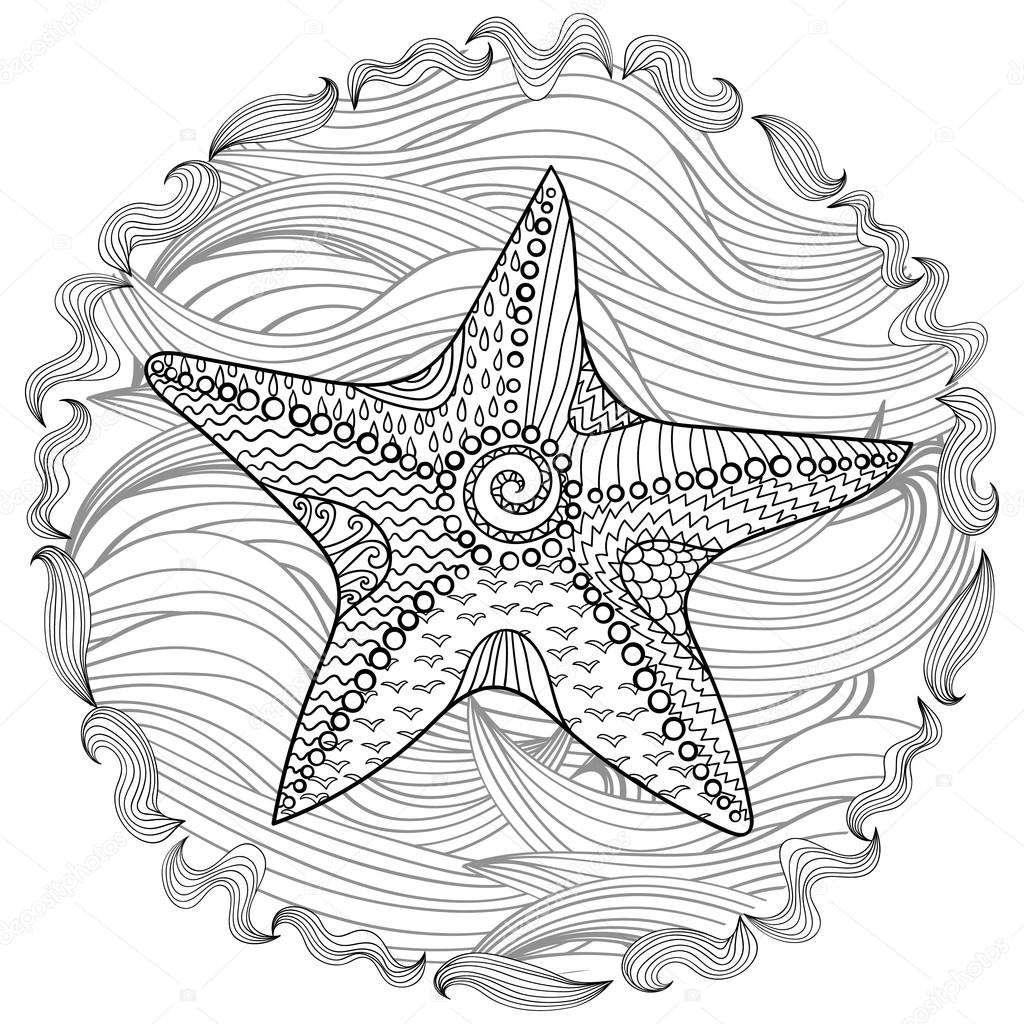 Starfish With High Details Stock Vector Lezhepyoka 106690140