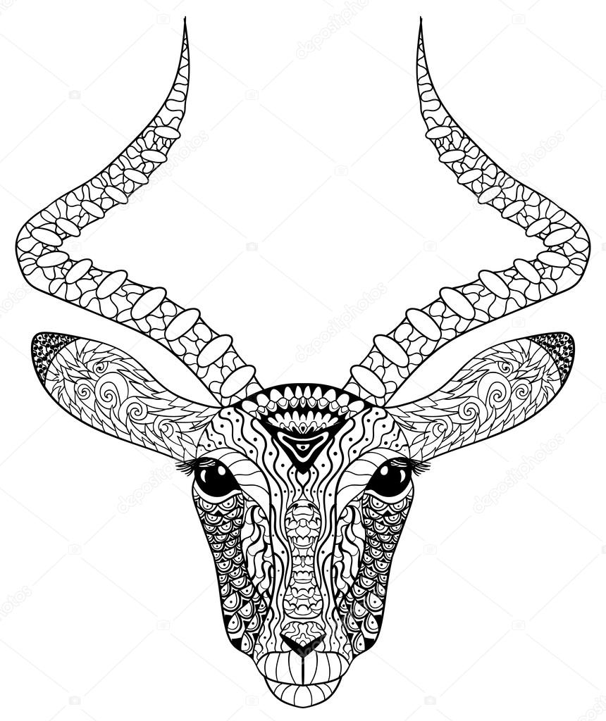 Adult coloring page for antistress art therapy. — Stock Vector ...