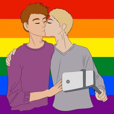 Two cute boys in love