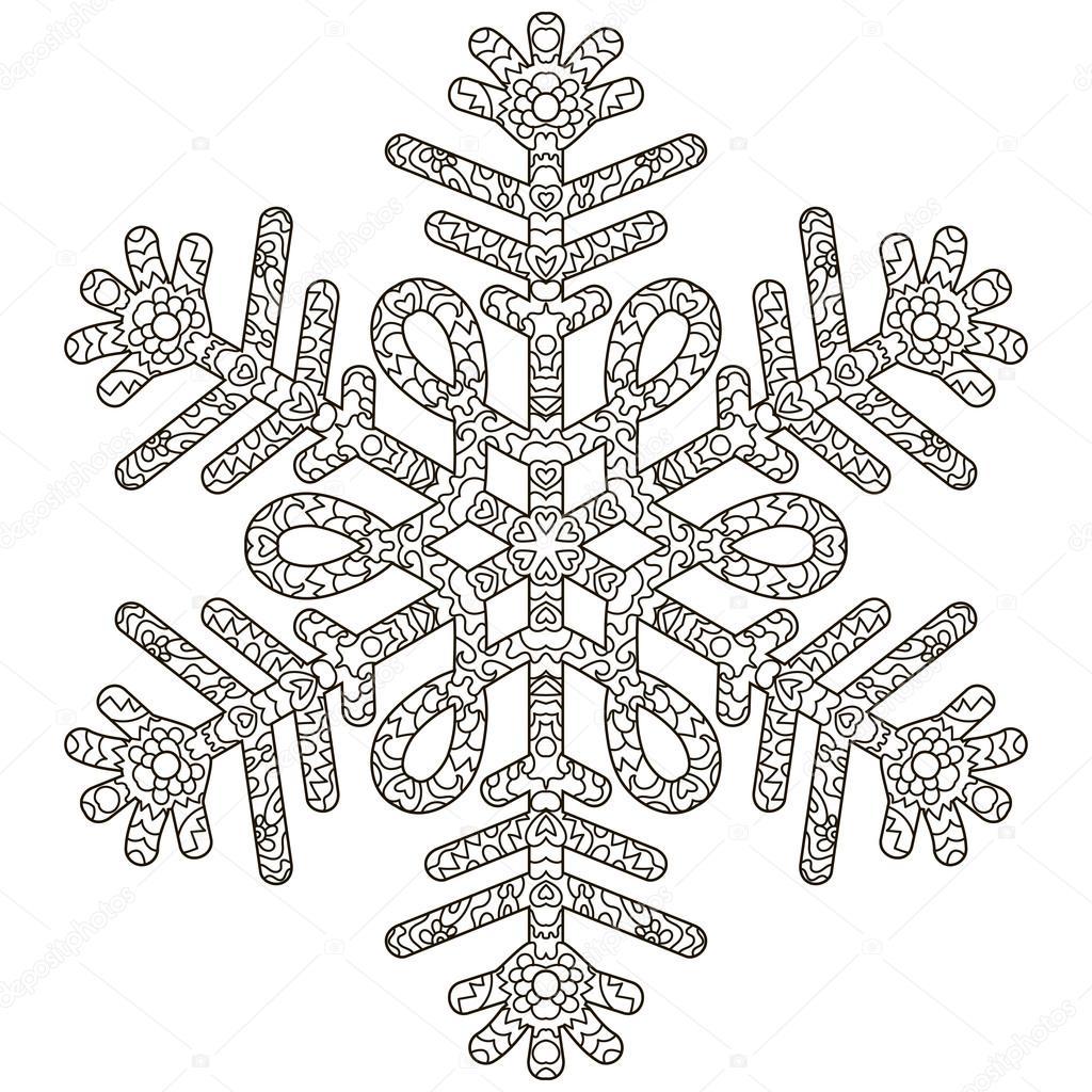 Antistress fiocco di neve disegnato a mano vettoriali for Fiocco di neve da ritagliare