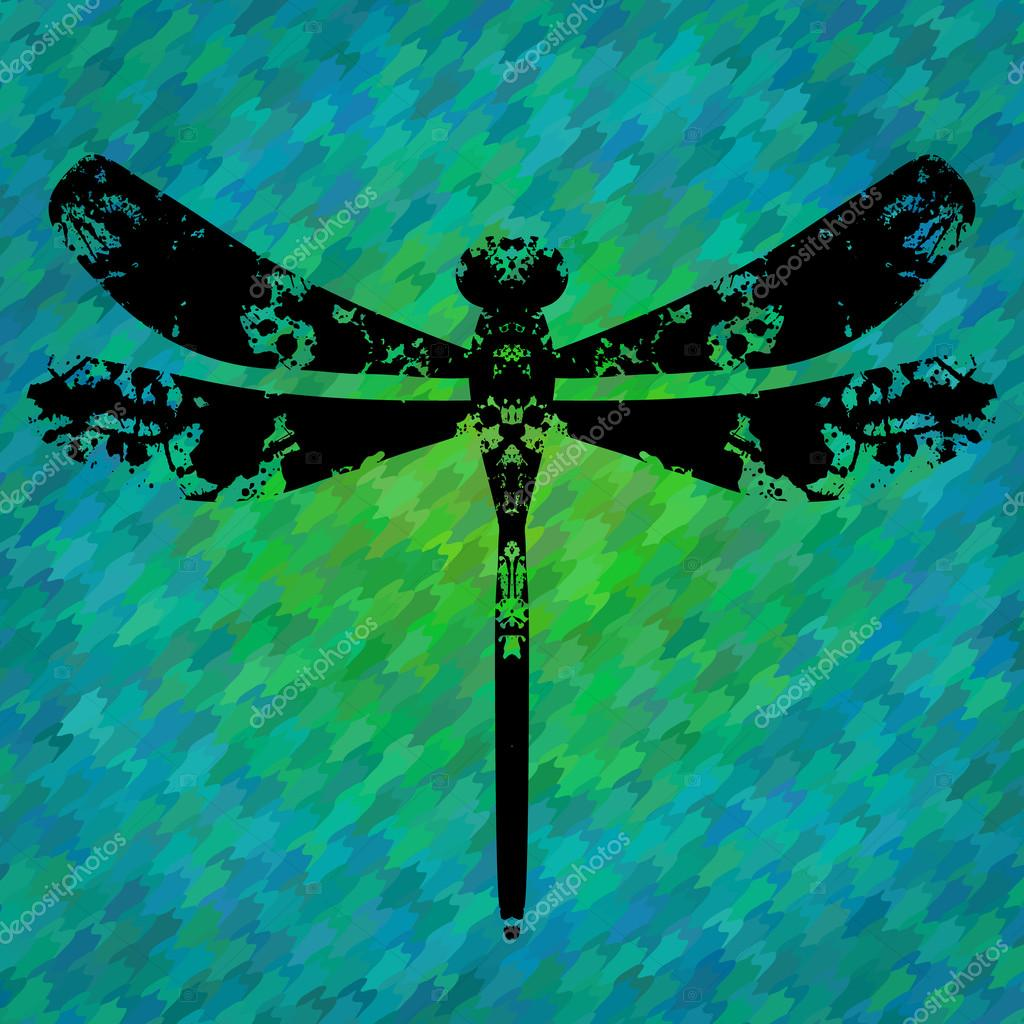 Silhouette of a dragonfly painted by blots stock vector silhouette of a dragonfly painted by blots stock vector 57690297 biocorpaavc