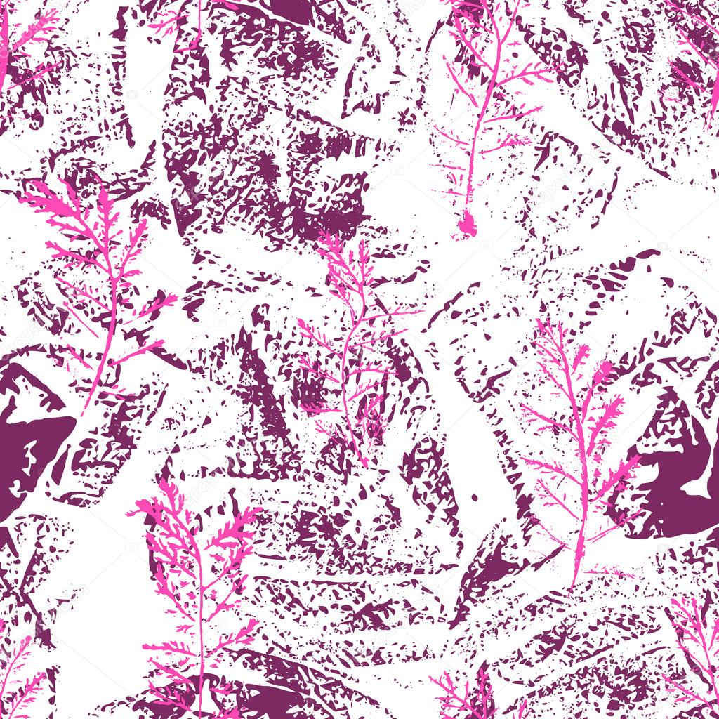 Floral pattern of herbs branches