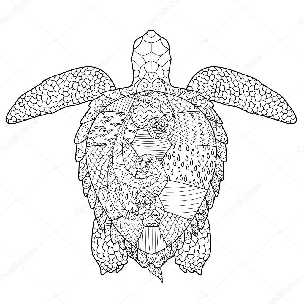 Kleurplaten Voor Volwassenen Schildpad.Kleurplaat Hond Met Schildpad
