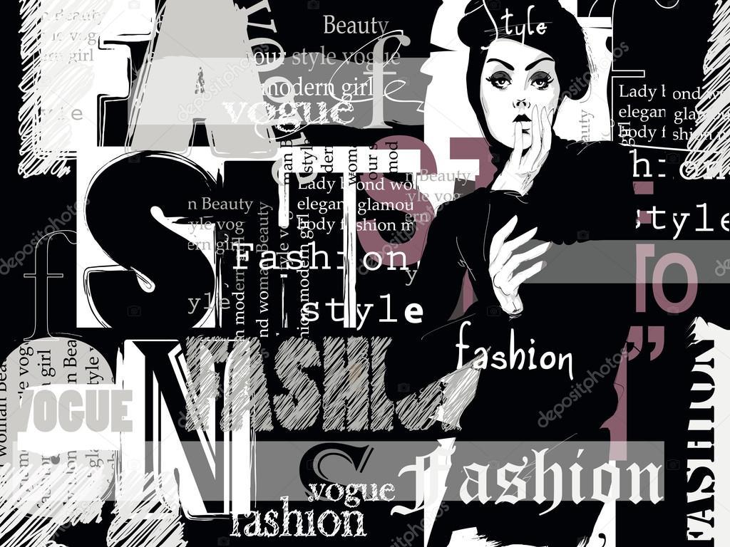 Vintage fashion background  — Stock Vector © Verlen4418
