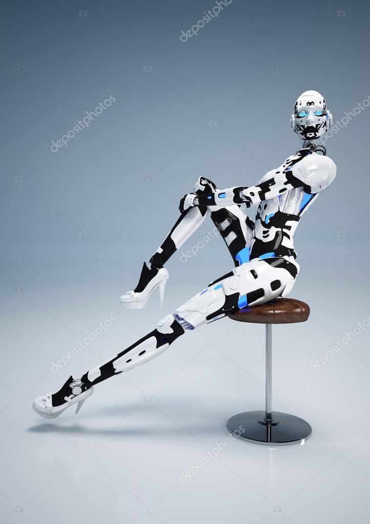 未来的なファッション アンドロイド \u2014 ストック写真