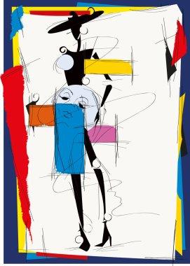 cubism fashion girl
