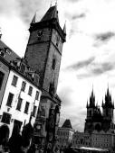 černé a bílé fotografie Praha