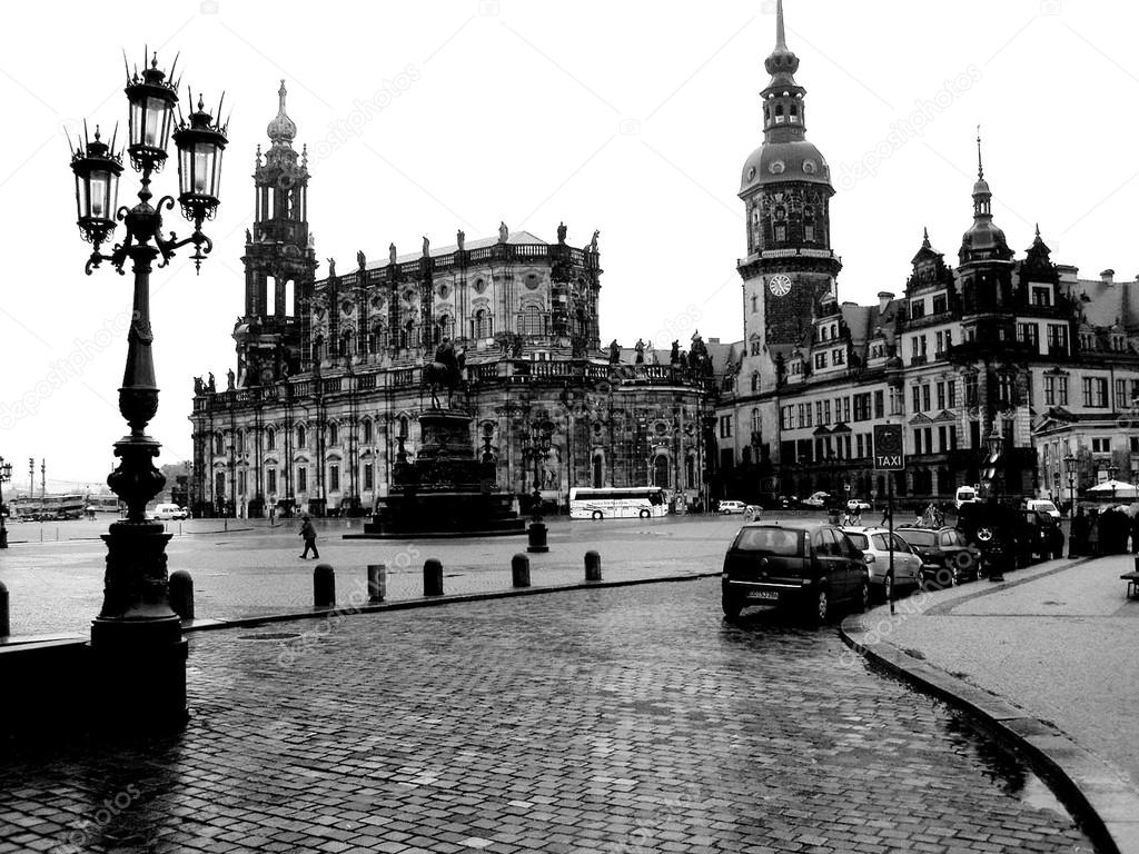 Black and white photo Dresden