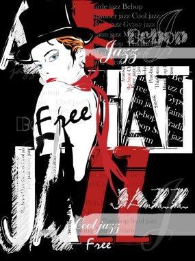 Vintage Jazz  Poster Background