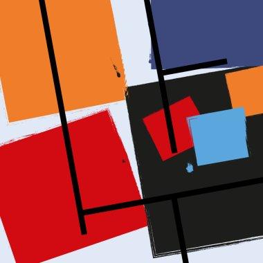Modern background. Cubism