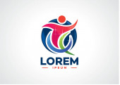 Fun People Logo Template Design Vektor, Emblem, Designkonzept, kreatives Symbol, Symbol
