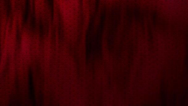 Hagyományos elegáns ázsiai hullám minta piros színű hullámzó hurkolt ruhát. Koncepció 3D animációs lövés a kínai újév és ünnepi háttérrel. Luxus teljes váz selyem textúra másolási hellyel.