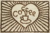 Disegno dai chicchi di caffè