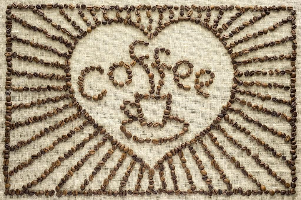 Drawing from coffee beans.