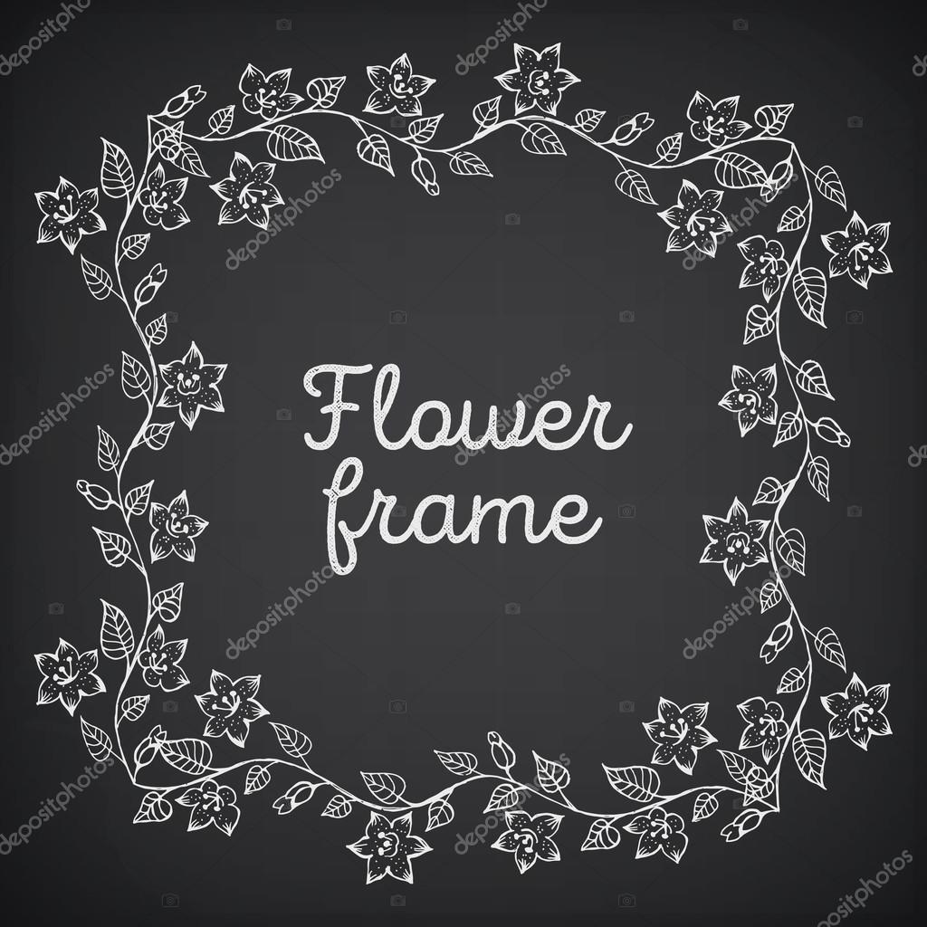 marco vintage con ornamento floral con fondo grunge para diseño ...