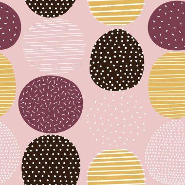 Seamless stylized graphic pattern