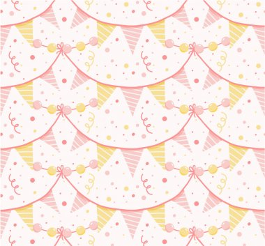 Party garlands seamless pattern.