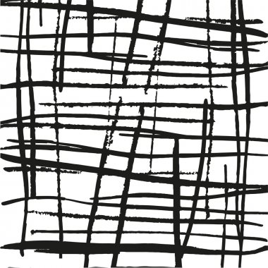 Abstract lines texture. Messy black and white paint