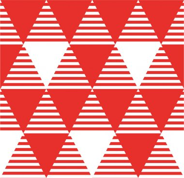 Modern seamless pattern with triangles