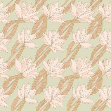 Beautiful bright seamless pattern with flowers.