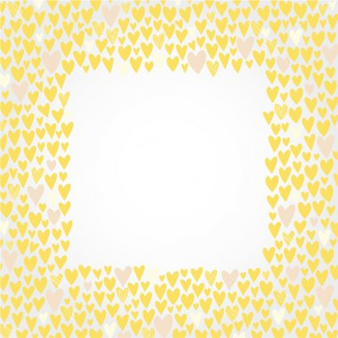 Cute love hearts frame for invitations