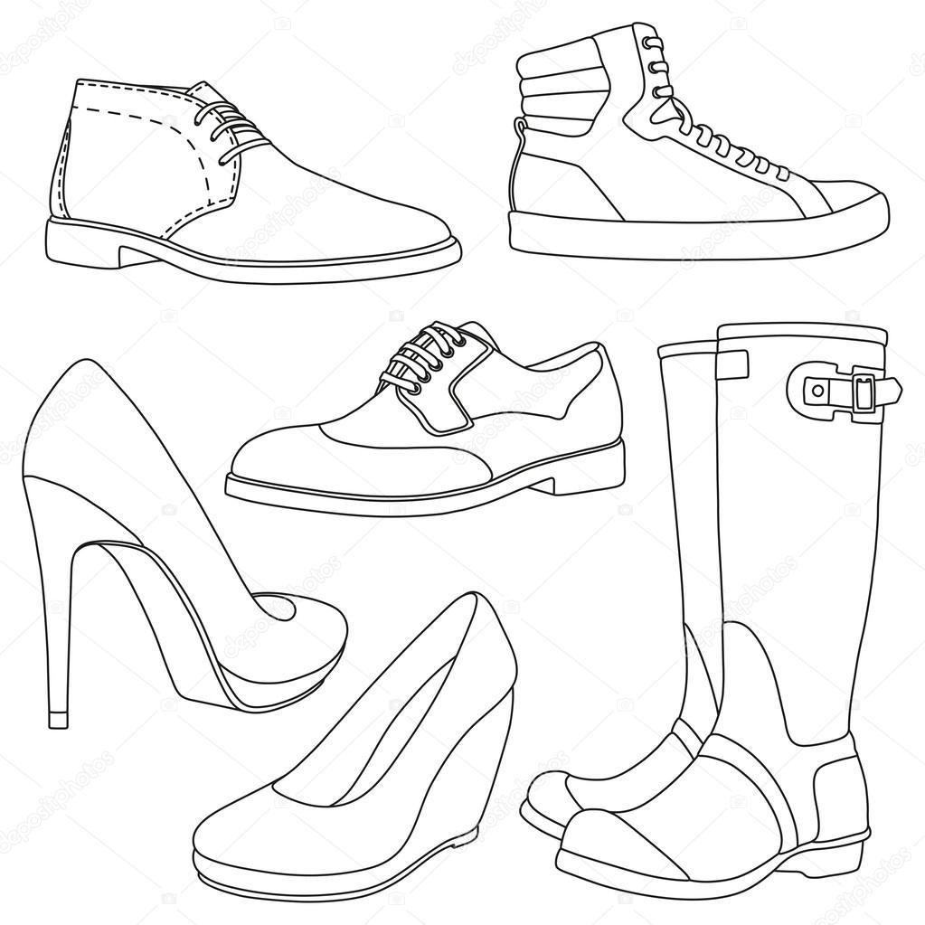 Imagenes Para Colorear Zapatos - Impresion gratuita