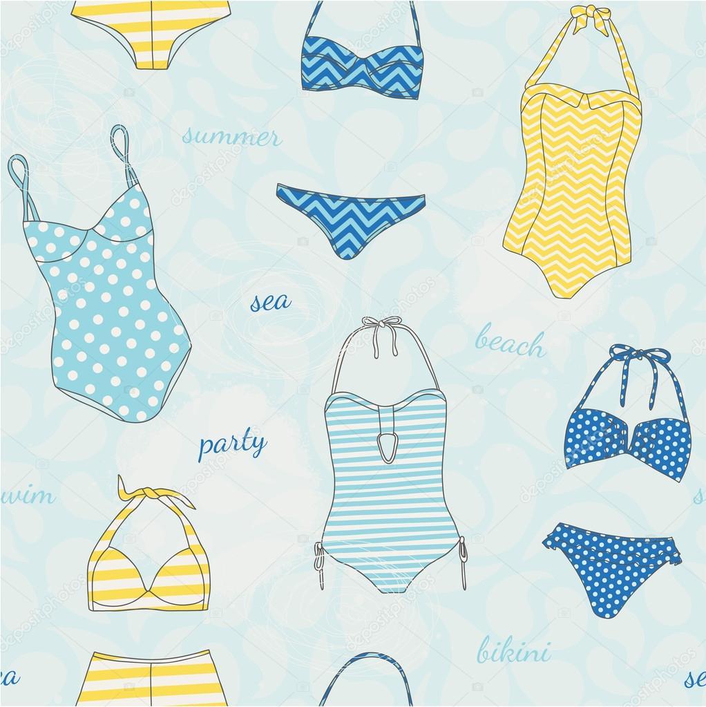 Descargar patrones para trajes de baño   patrones sin fisuras con ...