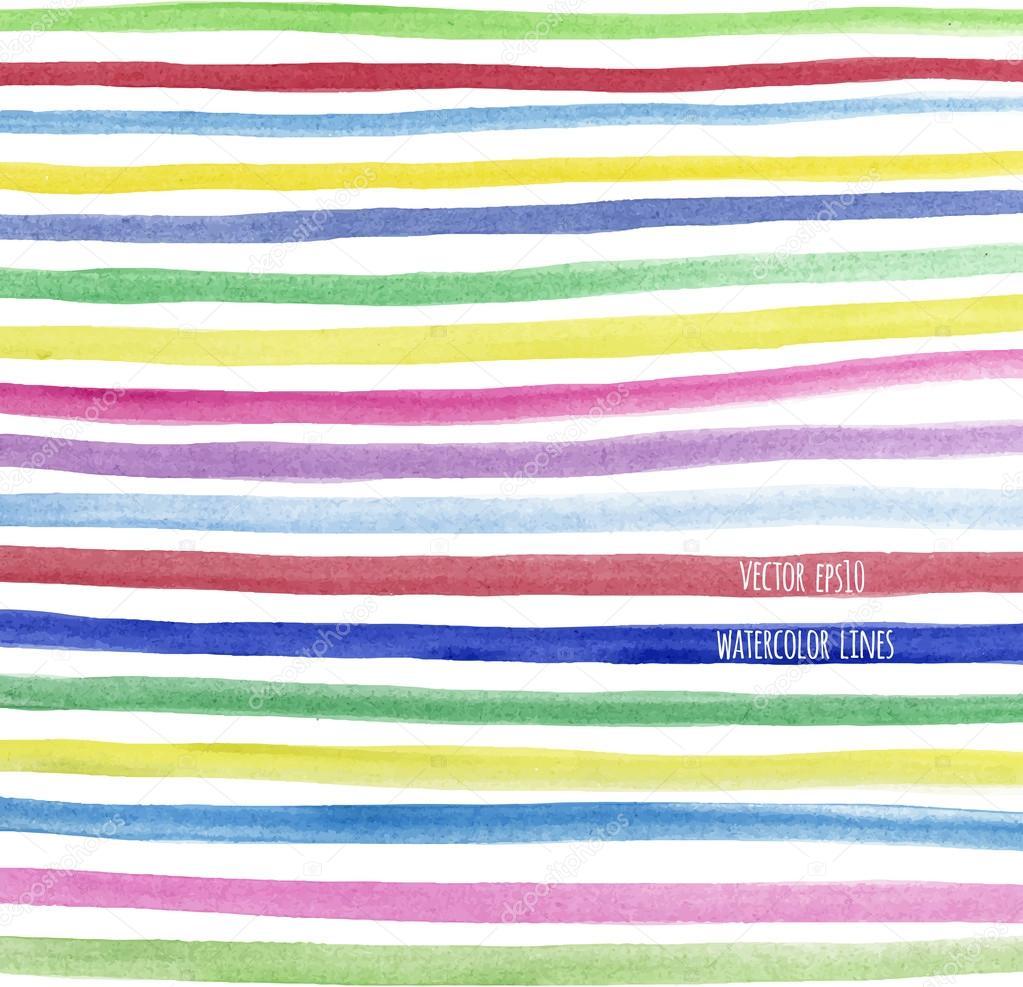 Multicolor watercolor line seamless pattern