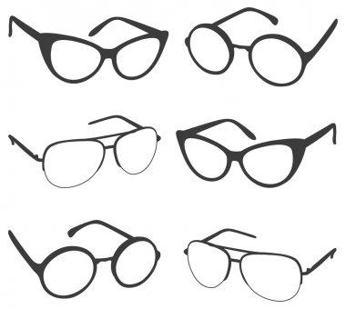 Set of sunglasses shapes