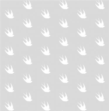 Vintage seamless pattern with swallows. Birds background. Vector illustration clip art vector