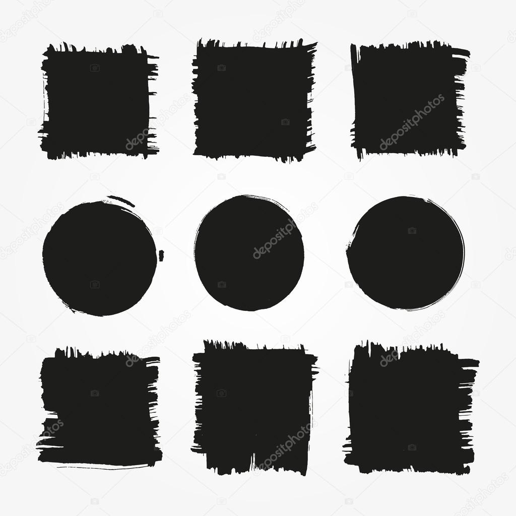Set of grunge shapes.