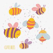 cartoon bees.