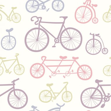 Pattern with   bicycles.