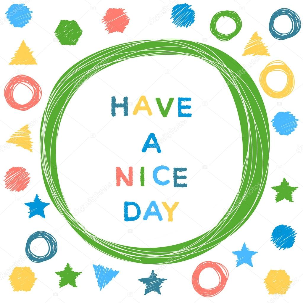 Have A Nice Day Funny Doodle Card Stock Vector Vanillamilk