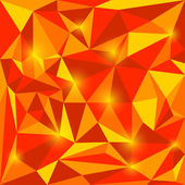 Abstract bright red and orange autumn colored vector triangular geometric background with glaring lights for use in design for card, invitation, poster, banner, placard or billboard cover