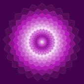 Ozdobné geometrické ruční kreslení zářivě rudý spektrální barevné