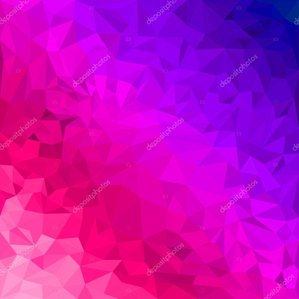 Purple Polygonal Abstract Background: Abstract Bright Purple And Scarlet Colored Polygonal